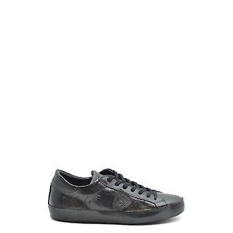 Philippe Modelo Ezbc019036 Men's Black Leather Sneakers
