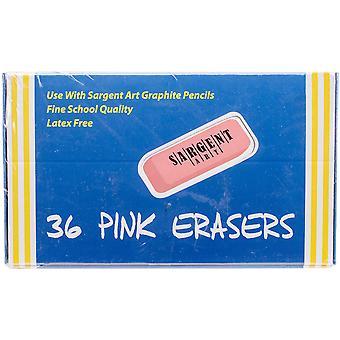 Sargent Art Large Pink Erasers 36/Pkg-