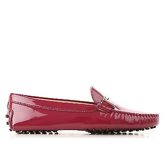 Tod's Xxw00g0q4990w0r812 Women's Pink Patent Leather Loafers