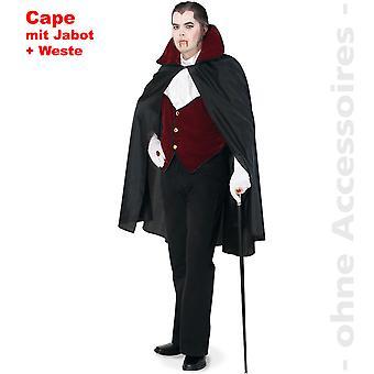 Contele dracul costum Men ' s pelerina Dracula vampir Halloween barbati costum