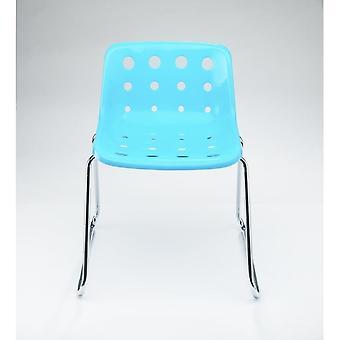 Loft Robin Day Sled Light Blue Plastic Polo Chair