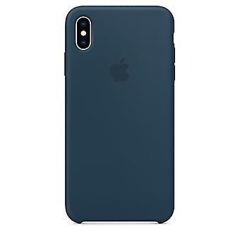 Original Packad Apple Silikon Microfiber Cover Case för iPhone XS - Pacific Green
