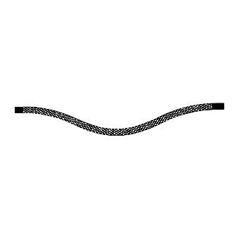 Stubben Magic Tack Bridle Browband Inlay Long Curved Chessboard Black Diamond
