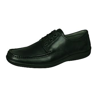 Sledgers Hadley Mens Slip on Leather Shoes - Black