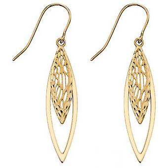 Elements Gold Overlapping Filigree Earrings - Gold