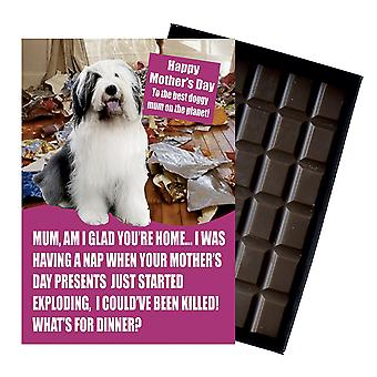 Old English Sheep Dog Owner Lover  Mother's Day Gift Chocolate Present For Mum