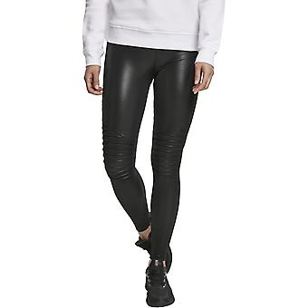 Urban Classics Ladies - BIKER Leather Imitation Leggings Black