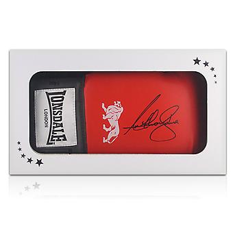 Anthony Joshua Signed Red Boxing Glove In Gift Box