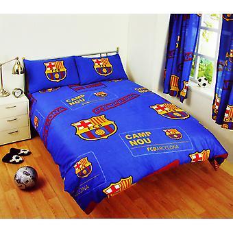 FC Barcelona Official Patch Double Football Crest Duvet Set