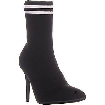 Material Girl Womens Paisley tecido apontou Toe Ankle Boots de moda