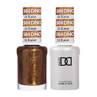 DND Duo Gel & Nail Polish Set - 24 Karat 584 - 2x15ml