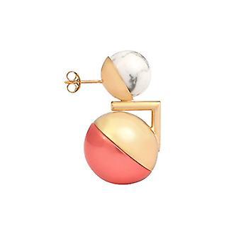 Leivankash Damen Ohrringe vergoldet Gold Perle Perle