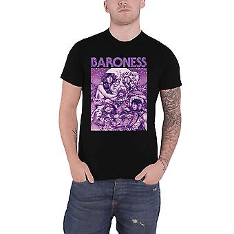 Baroness T Shirt Purple Album Cover Band Logo new Official Mens Black