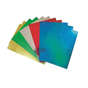 50 A4 Holographic Card Sheets for Kids Crafts   Coloured Card for Crafts