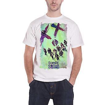 Suicide Squad T Shirt Movie Poster Harley Joker nieuwe officiële Mens wit