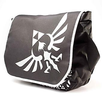 Nintendo Zelda Messenger Bag triforce silver Logo new Official Black