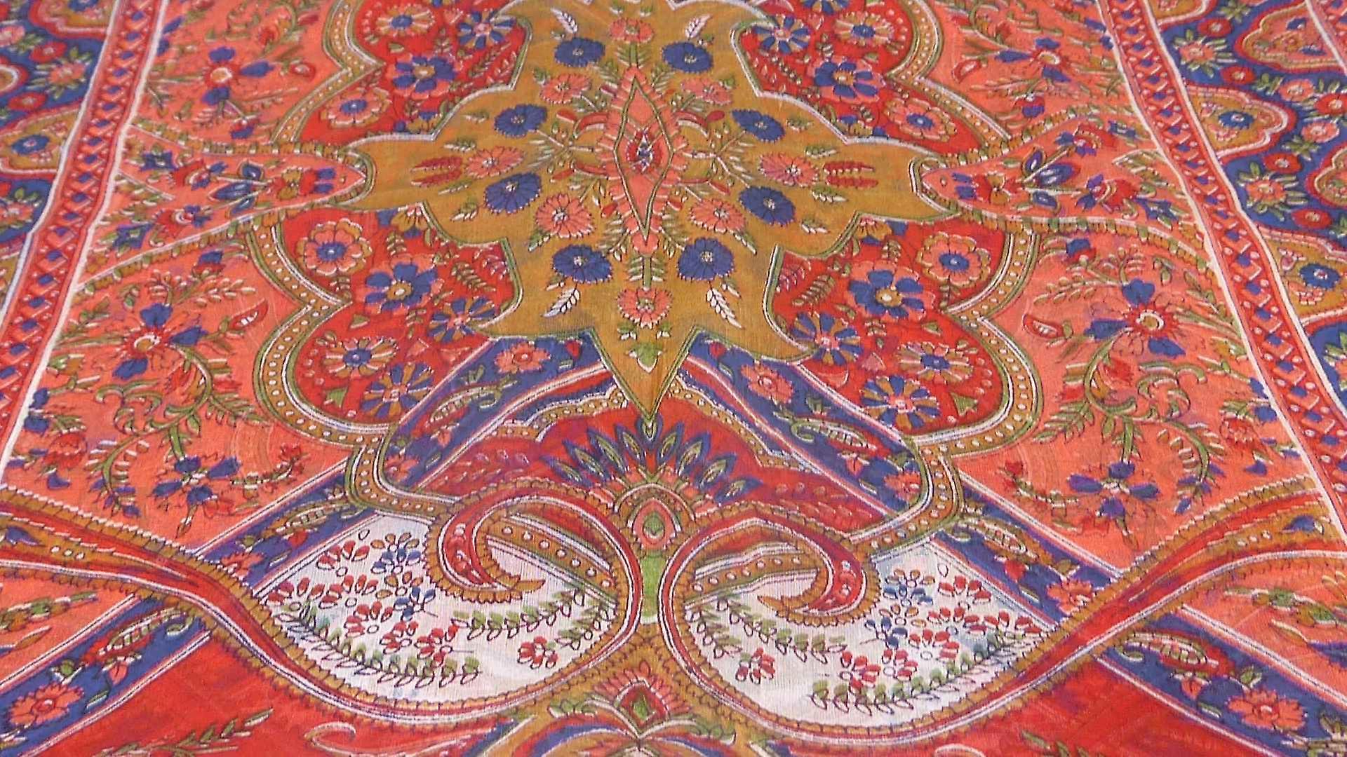 Mulberry Silk Traditional Long Scarf Kalyan Scarlet by Pashmina & Silk