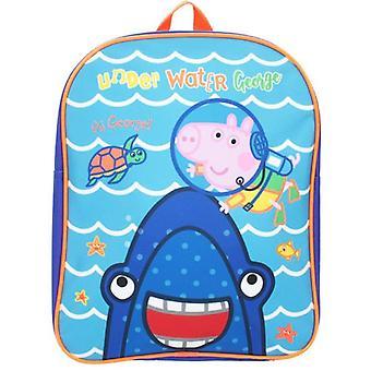 Peppa George  Blue School Bag Rucksack Backpack