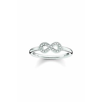 Thomas Sabo Sterling Silver Ring With Diamond D_TR0001-725-14