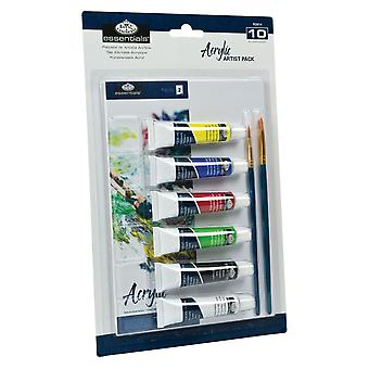 Royal & Langnickel 10 Piece Blister Acrylic Artist Pack