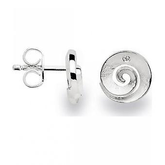 باستيان inverun - 925 الأقراط مسمار الفضة مع الماس 0.01 ct WP1 - 22690