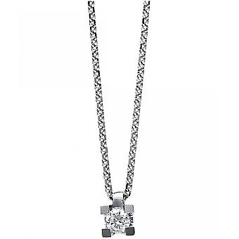 Diamond Collier Collier - 14K 585 White Gold - 0.09 ct.
