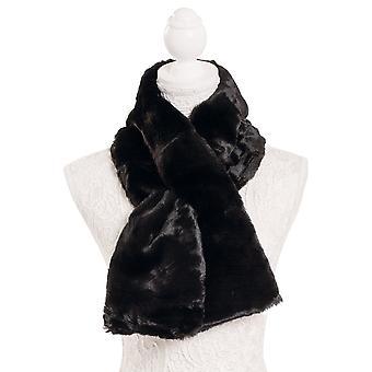 Eternal Collection Luxurious Faux Fur Noir Tippet Écharpe