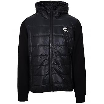Lagerfeld Black Padded Hybrid Jacket - Price------