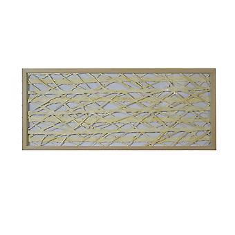 """14 """"x 2"""" x 47 """"natuurlijke bruin, hout, papier en glas-shadow box"""