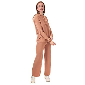Donna Coraggiosa Soul Knitted Co-Ord Loungewear Set In Toasted Camel