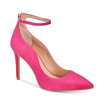 INC Womens Kasen Ankle Strap Suede Pointed Toe Heels
