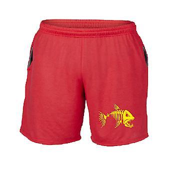Pantaloncini tuta rosso fun2430 mad fish bones