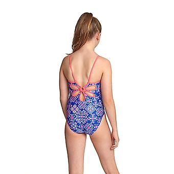 Zoggs Enchanted yaroomba pige ' s Floral One Pieces badedragt i blå/multi