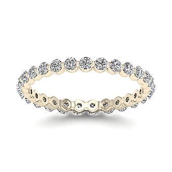 Igi certifierad 0,75 ct diamant kvinnor & apos; evighet band i 14k gult guld