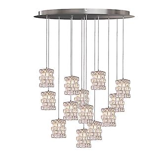 Cubicus 13 Mini Pendant Lighting Chrome