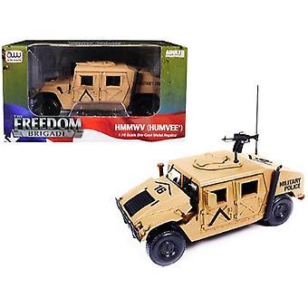 HMMWV (Humvee) Military Police Desert Tan 1/18 Diecast Model Car by Autoworld