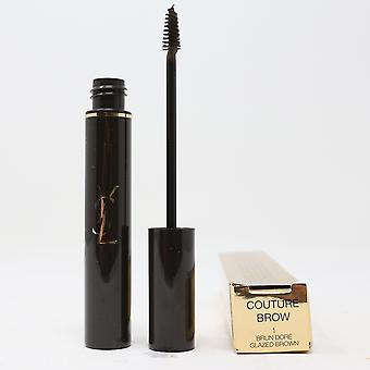 Yves Saint Laurent Couture Brow Mascara 1 Glazed Brown 0.26oz/7.7ml New In Box