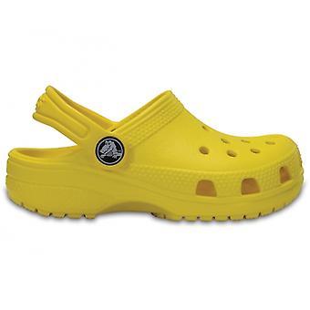 Crocs 204536 كلاسيك كلوج الأطفال يجلون ليمون