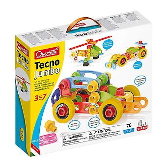 Quercetti Tecno Jumbo Building Set 76PC STEAM Toy Ages 3-7 Years