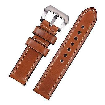 Calf leather watch strap light brown premium hand stitched strap for panerai® 20mm to 26mm