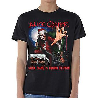 Alice Cooper Santa Claws Official Tee T-Shirt Mens Unisex