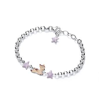 David Deyong Children's Sterling Silver Baby Deer & Stars Bracelet