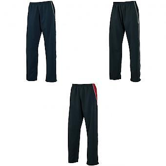 Tombo Teamsport Mens Open zoom bekleed Micro Fleece opleiding broek / joggen Bottoms (geschikt/winddicht)