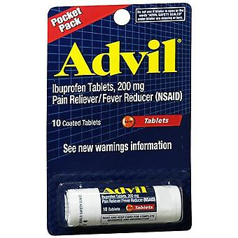 Advil pain reliever/fever reducer coated, tablets, 10 ea