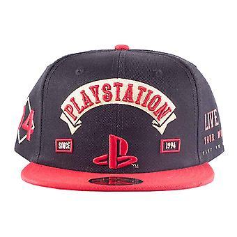 Playstation Baseball Cap Depuis 1994 Biker Logo nouveau Black Snapback officiel