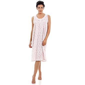Камилла розовая безрукавка цветочные ночная рубашка