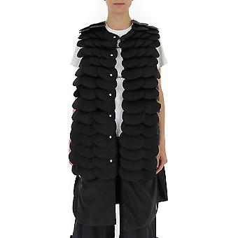 Moncler 4820105c0040999 Women's Black Polyester Vest