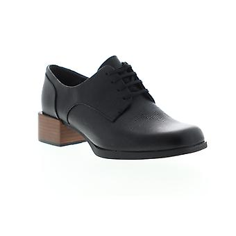 Camper Kobo  Womens Black Leather Heels Lace Up Pumps Shoes