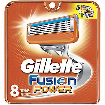 Gillette fusion power razor refill cartridges, 8 ea