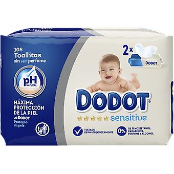 Dodot Sensitive Wet Baby Wipes Duopack 108 units